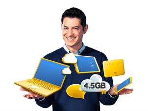 Dört Dörtlük Paketler Hediye 4.5GB