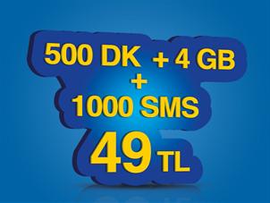 İnterneti Bol 500 Paketi Faturalıya Geçiş Kampanyası