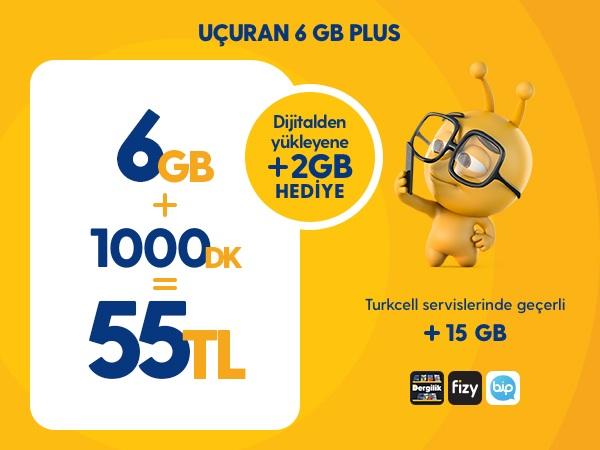 Uçuran 6 GB Plus Paketi