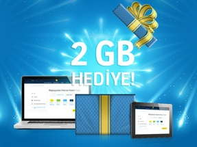 Turkcell.com.tr'den Hediye 2 GB Kampanyası