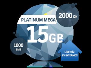 Dört Dörtlük Paketler Platinum Mega 15 GB