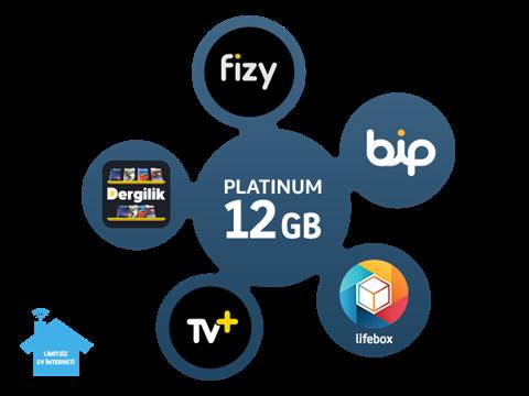 Dört Dörtlük Paketler Platinum 12 GB