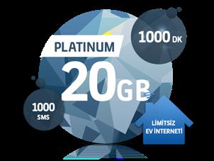 Dört Dörtlük Paketler Platinum 20 GB
