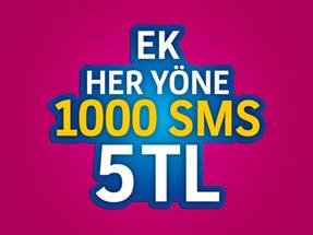 Ek 1000 SMS Paketi