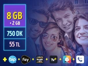 Satın Al GNÇ 8 GB – Faturalı'ya Geçiş