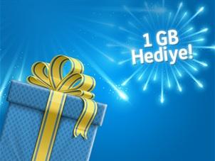 Turkcell.com.tr'den Hediye 1GB Kampanyası