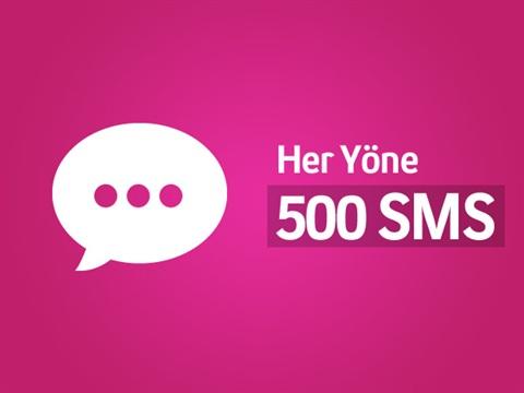 Her Yöne 500 SMS Paketi