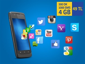 İnterneti Bol 500dk 4GB 1000SMS Paketi Yeni Müşteri Fırsat Kampanyası
