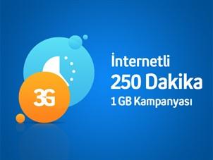 İnternetli 250 DK ve 1 GB Kampanyası