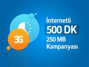 İnternetli 500 Dk ve 250 MB Kampanyası