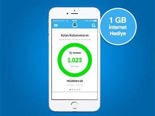 Dijital Operatör Uygulaması 1 GB Ücretsiz İnternet Kampanyası