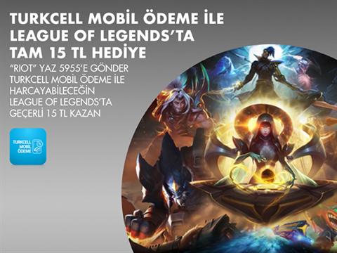 League of Legends'ta size özel tam 15 TL hediye!