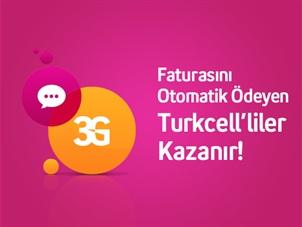 Faturasını Otomatik Ödeyen Turkcell'liler Kazanır!