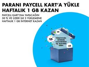 Paycell Kart Al Kullan 3 GB İnternet Kazan