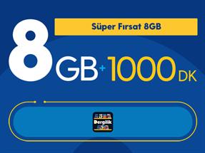Süper Fırsat 8GB Yıllık Abonelik Kampanyası