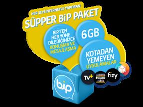 Süpper Bip 6GB Yıllık Abonelik Kampanyası