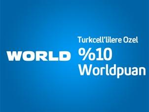 World'e özel 150 TL'ye varan Worldpuan Kampanyası!