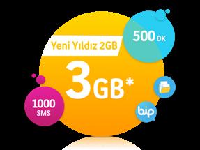 Yeni Yıldız 2 GB Paketi