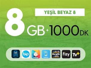 Satın Al Yeşil Beyaz 8GB