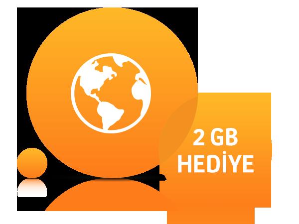 Aylık 2 GB İnternet
