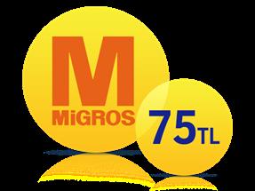 Migros Sanal Market'te 75 TL İndirim