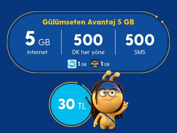 Gülümseten Avantaj 5 GB Paketi