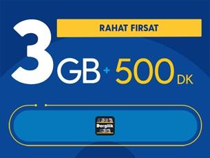 Satın Al Rahat Fırsat 3GB Paketi - Tekrarsız