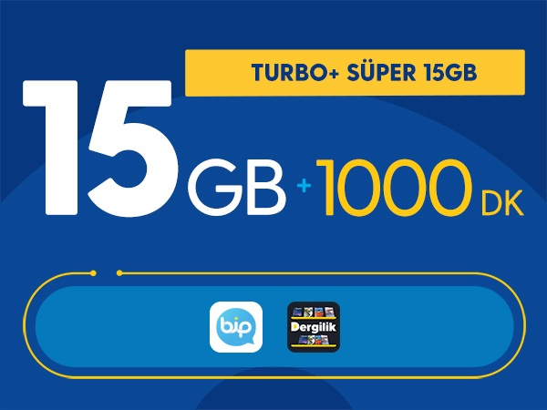 Turbo+ Süper 15GB