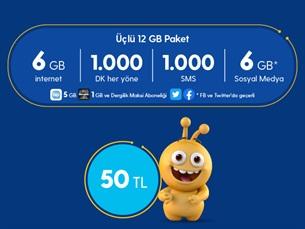 Satın Al Üçlü 12 GB Paketi