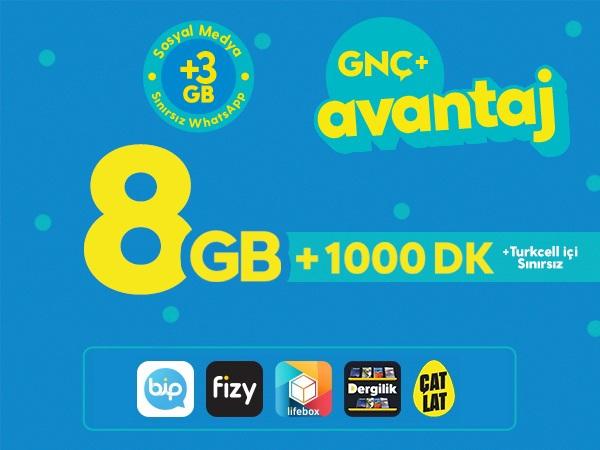 GNÇ+ Avantaj 8GB
