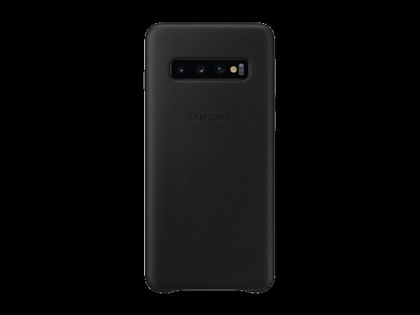 Samsung Galaxy S10 Siyah Deri Kılıf
