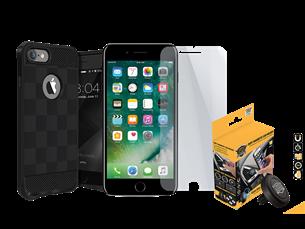 Buff iPhone 7 Plus/8 Plus Black Armor Koruma Üçlü Set 2
