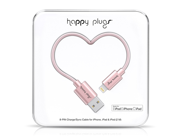 Happy Plugs Deluxe Lightning Data ve Şarj Kablosu