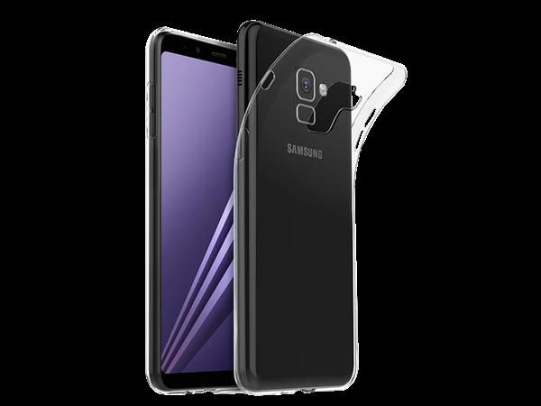 Justech Samsung A8 Plus Şeffaf Koruyucu Kılıf