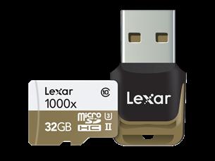 Lexar 1000X Micro SD USB Hafıza Kartı 32 GB